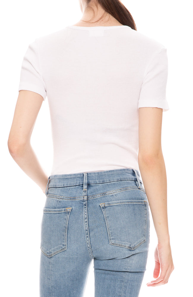 RE/DONE Ribbed Tee Bodysuit at Ron Herman