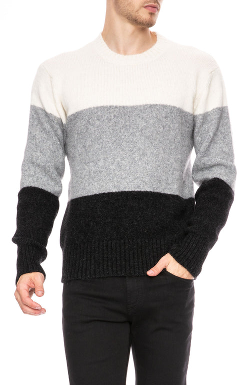 AMI Alpaca Wool Mix Crew Sweater at Ron Herman