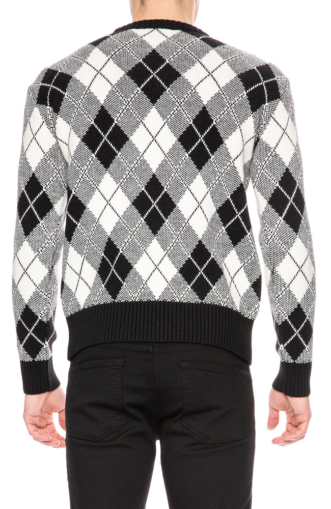 AMI Jacquard Crew Neck Sweater at Ron Herman