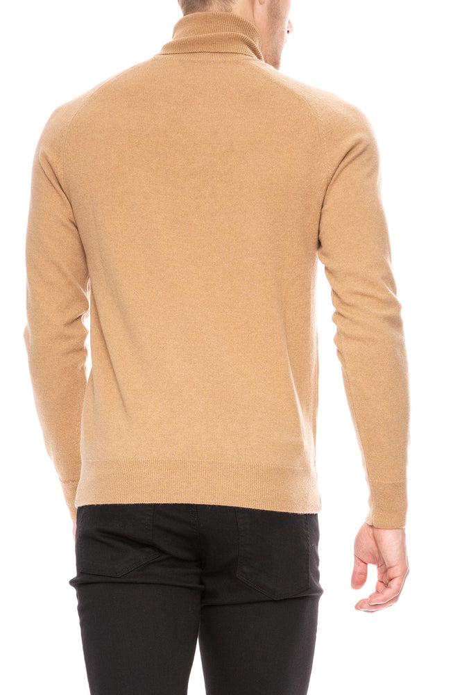 AMI Turtle Neck Sweater in Beige at Ron Herman
