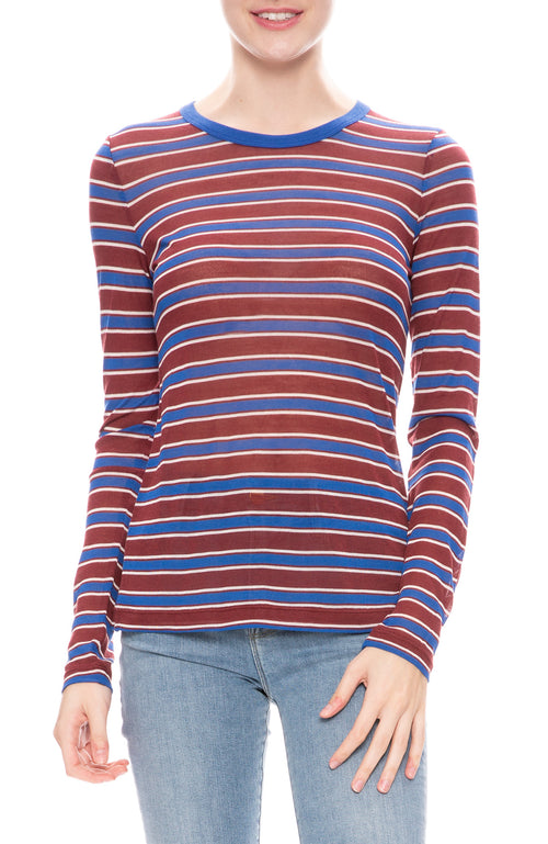 Rag & Bone Womens Avery Long Sleeve Striped T-Shirt