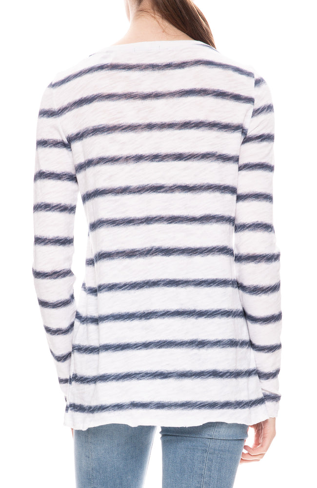 Watermark Long Sleeve Stripe Top