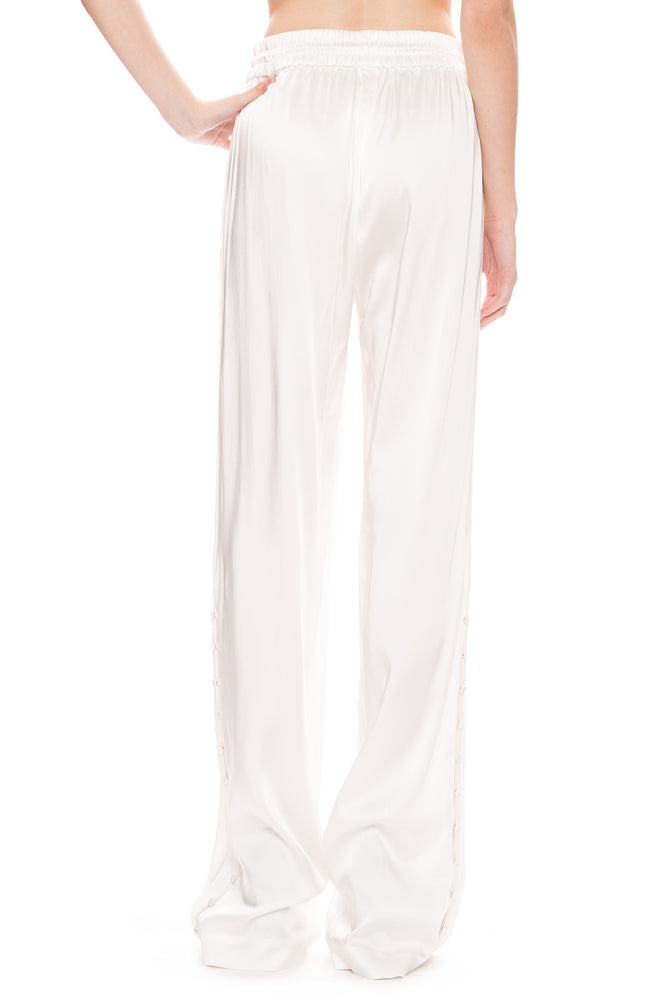 Jonathan Simkhai Sateen Combo Track Pants in White