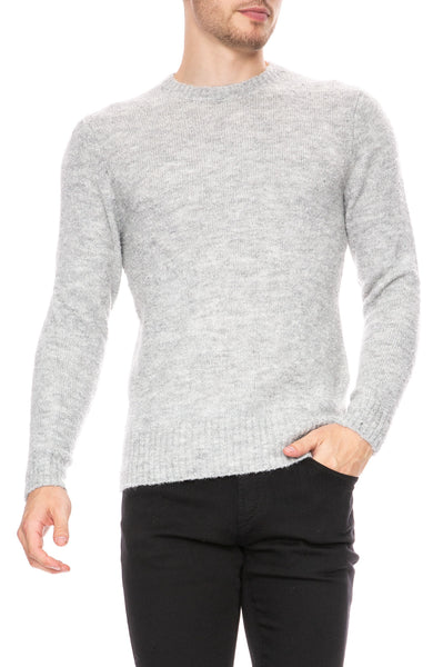 Denham Knit Gray Marl Pullover Sweater at Ron Herman