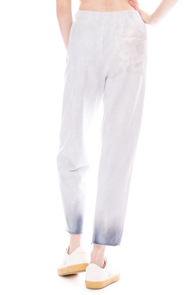 Raquel Allegra Wind Fleece Front Pleat Tie-Dye Sweatpants