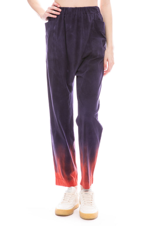 Raquel Allegra Night Shade Tie Dye Relaxed Pants