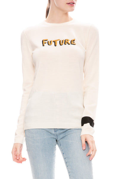 Bella Freud Future Jumper Sweater in Ivory