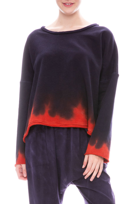 Night Shade Tie-Dye Boxy Sweatshirt