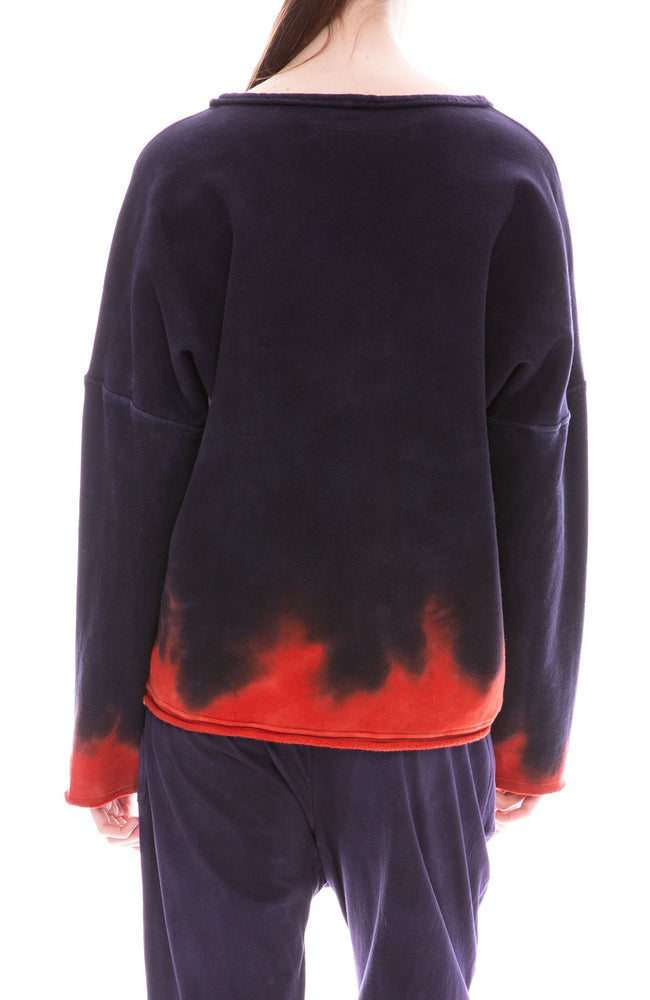Raquel Allegra Night Shade Tie Dye Boxy Sweatshirt