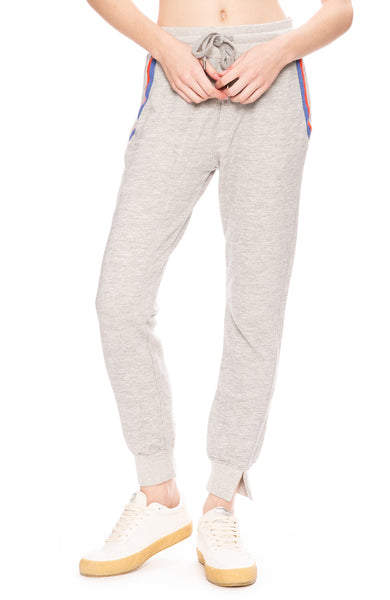 Sundry Relaxed Pocket Detail Jogger Pants in Heather Grey