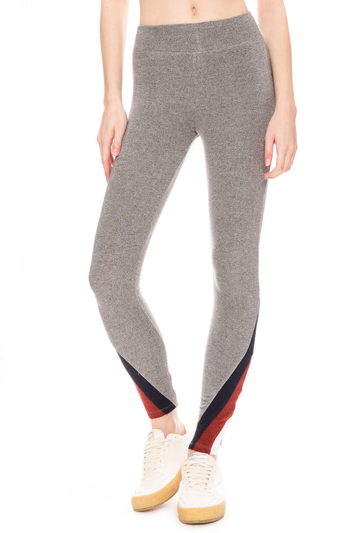 Sundry Color Inset Yoga Pants in Heather Grey