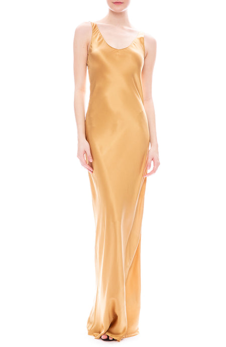 Bazile Silk Charmeuse Gown