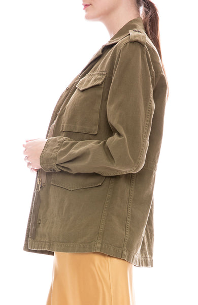 Nili Lotan Wren Cotton-Linen Field Jacket at Ron Herman