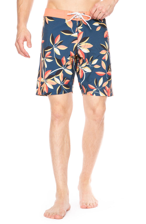Vissla Montra Board Shorts in Dark Denim Floral at Ron Herman