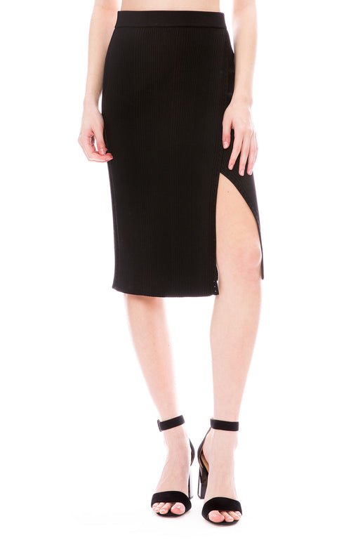 Jonthan Simkhai Eyelet Rib Wrap Skirt at Ron Herman