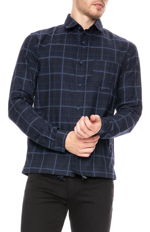The Goodpeople Dave Windowpane Shirt at Ron Herman