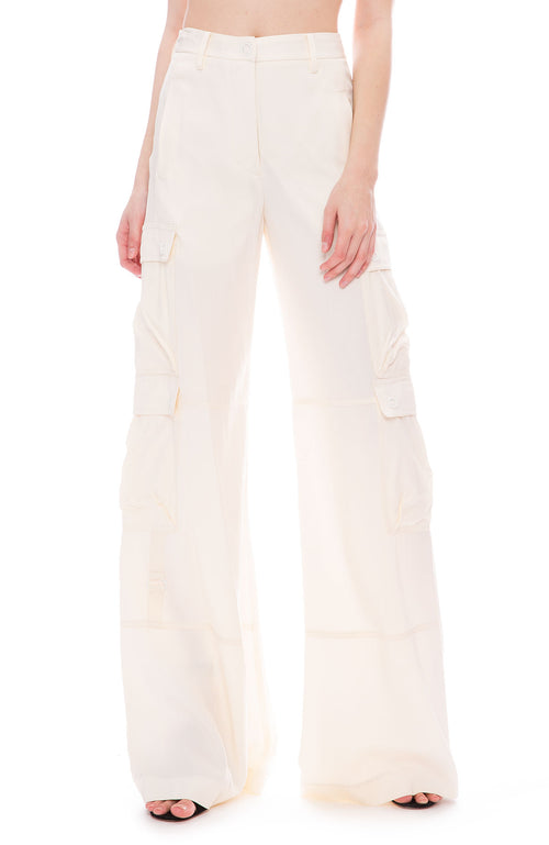 Jonathan Simkhai  Wide Leg Cargo Pant at Ron Herman
