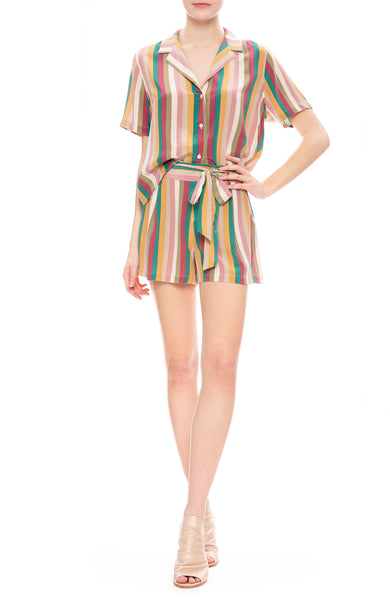 Rails Multi Colored Farrah Stripe Gigi Shorts and Maui Shirt