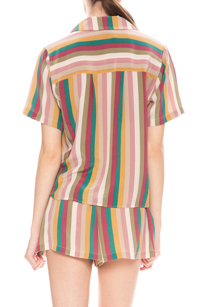 Rails Maui Multi Colored Farrah Stripe Shirt