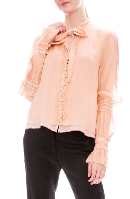 Chiffon Smocking Blouse
