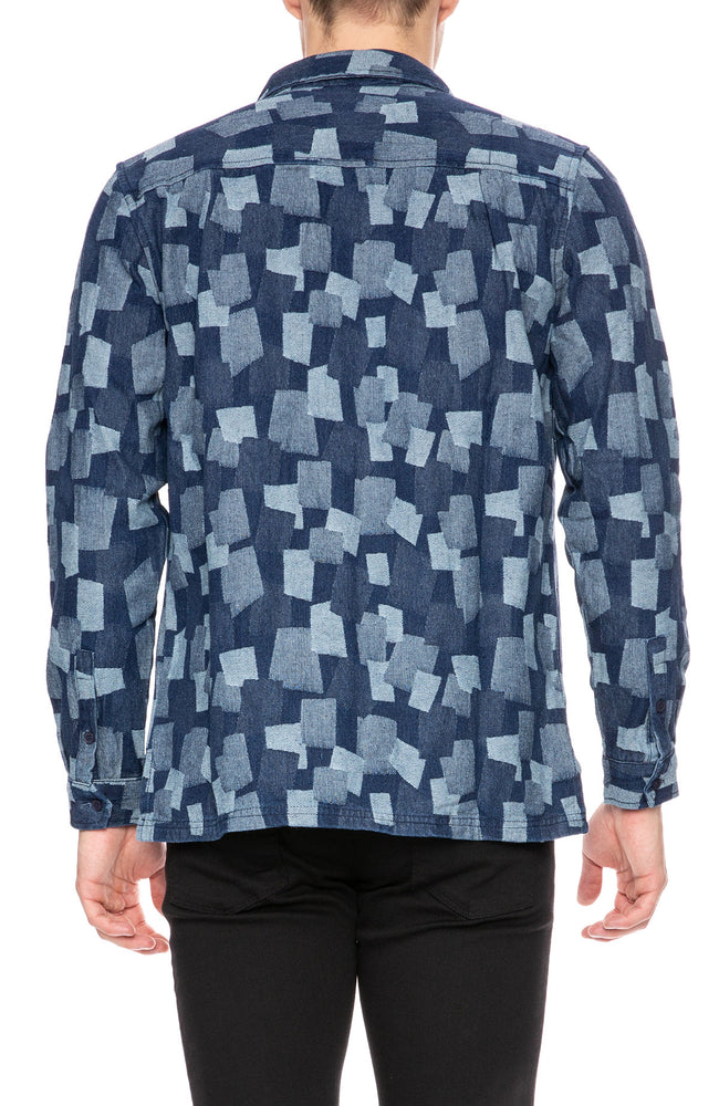 Native Youth Institute Jacquard Patch Chambray Shirt at Ron Herman