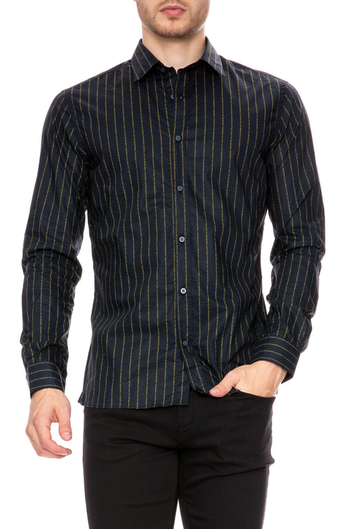The Goodpeople Nicotine Stripe Print Shirt at Ron Herman