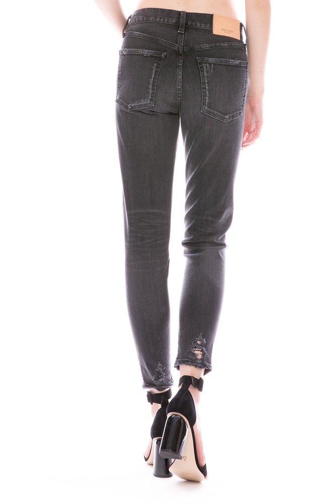 Moussy Vintage MV Velma Skinny Jean in Black