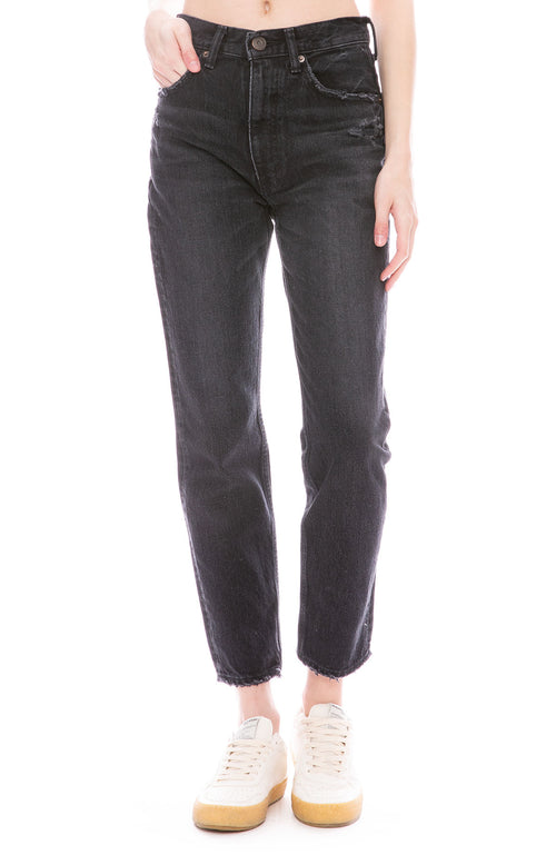 Moussy Vintage MV Irving Boy Skinny Jean in Black