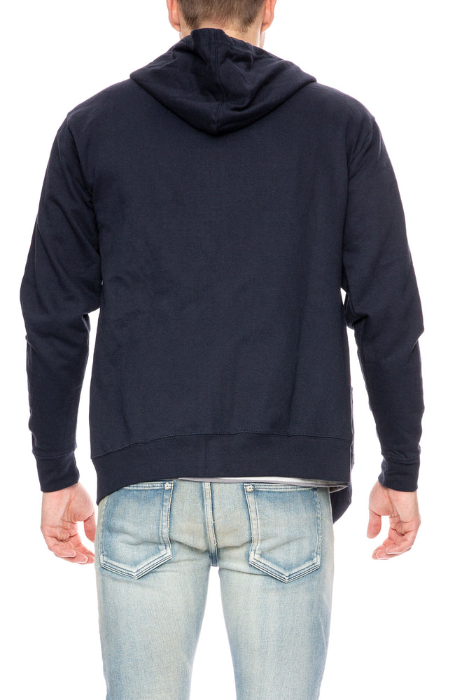 Captain Fin Zip Up Hoodie in Navy at Ron Herman