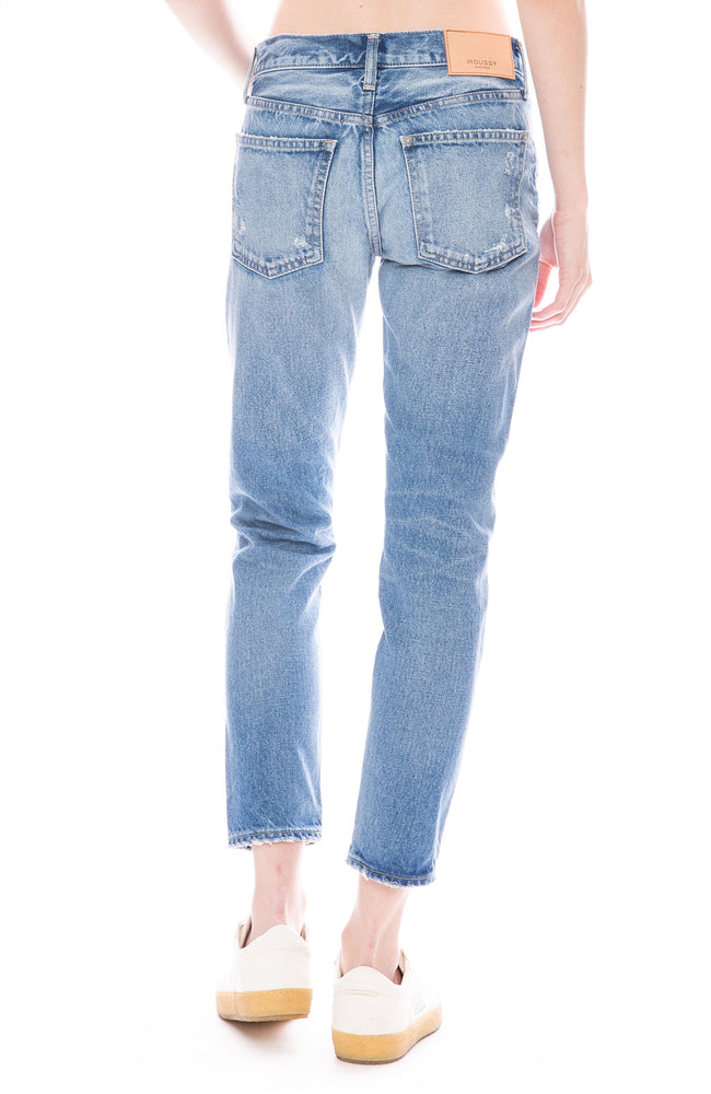 Moussy Vintage MV Magee Tapered Jean in Light Blue