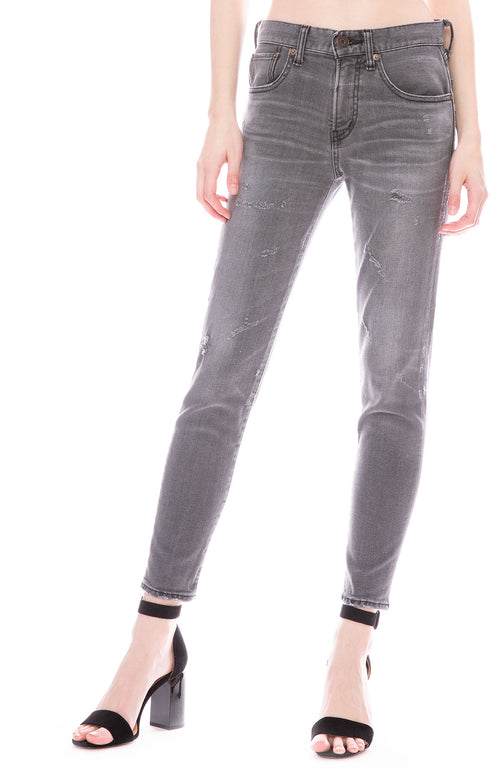 Moussy Vintage MV Helix Skinny Jean in Light Black