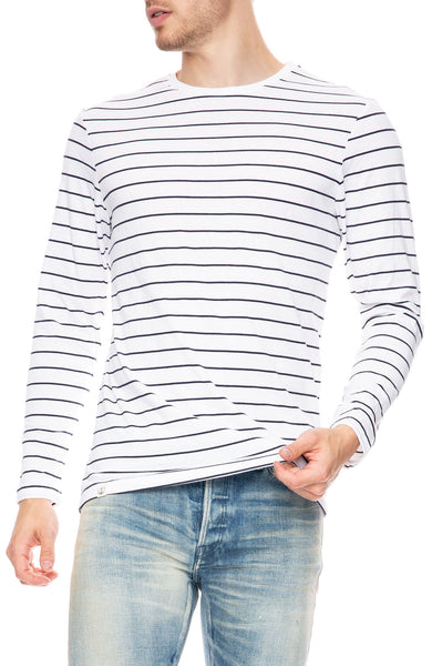 Captain Fin Harold White Stripe T-Shirt at Ron Herman