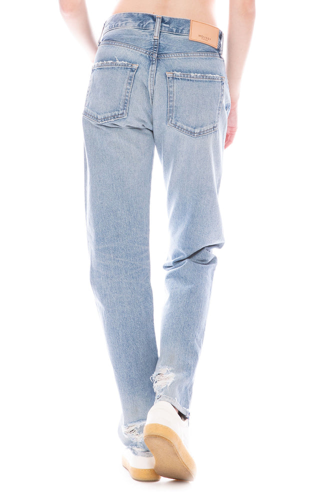 Moussy Vintage MV Steele Straight Leg Jean in Blue