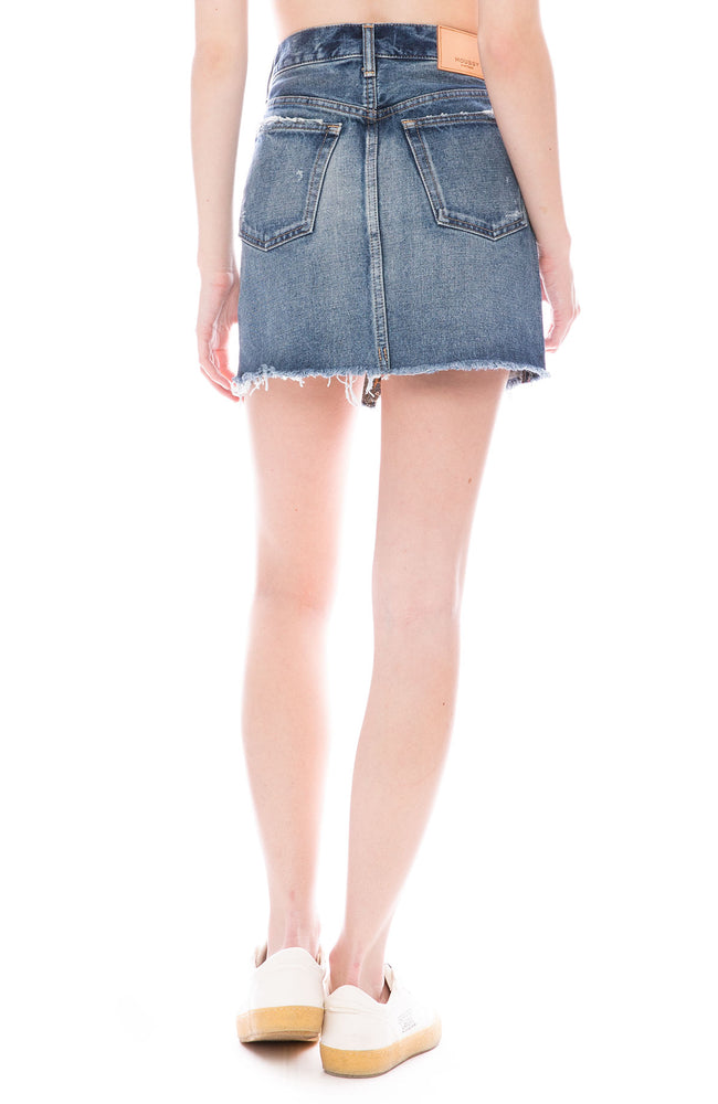 Moussy Vintage MV Spencer Cutoff Denim Skirt in Blue