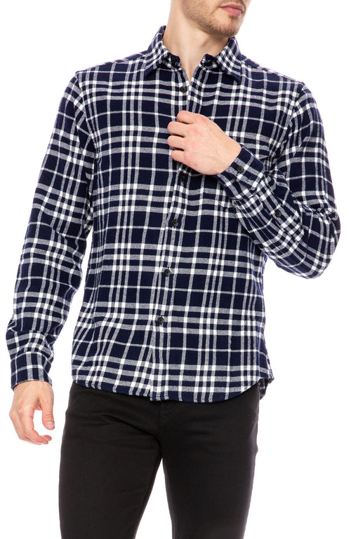Alex Mill Plaid Patch Pocket Flannel Shirt at Ron Herman