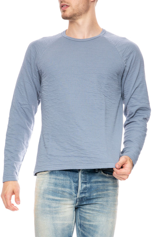 Alex Mill Double Knit Raglan Sweater in Blue Slate at Ron Herman