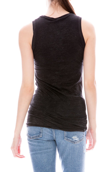 Avant Toi Round Neck Tank in Black at Ron Herman
