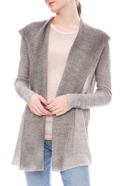 Avant Toi net stitch open front cardigan at Ron Herman