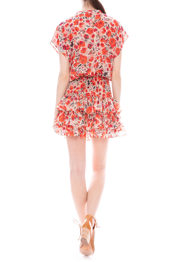 Misa Los Angeles Eloisa Chiffon Floral Mini Dress