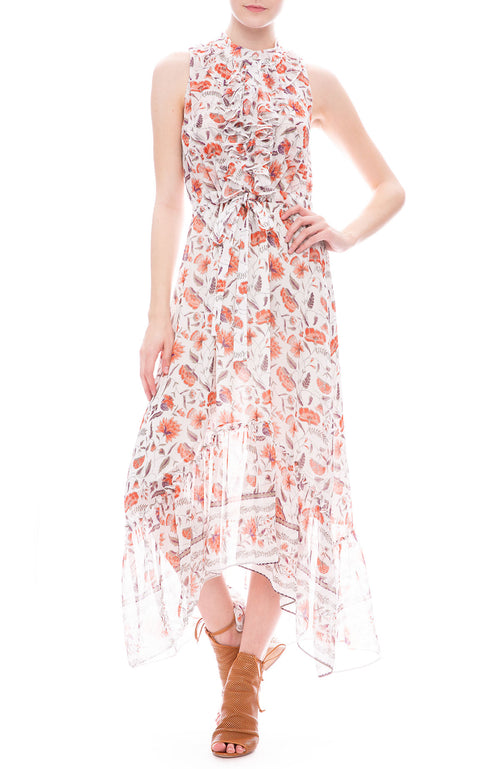Misa Los Angeles Audra Floral Chiffon Maxi Dress