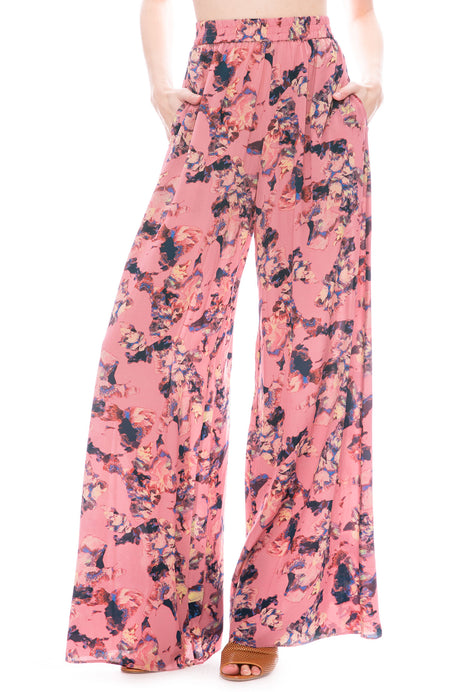 Tanny Floral Silk Pant
