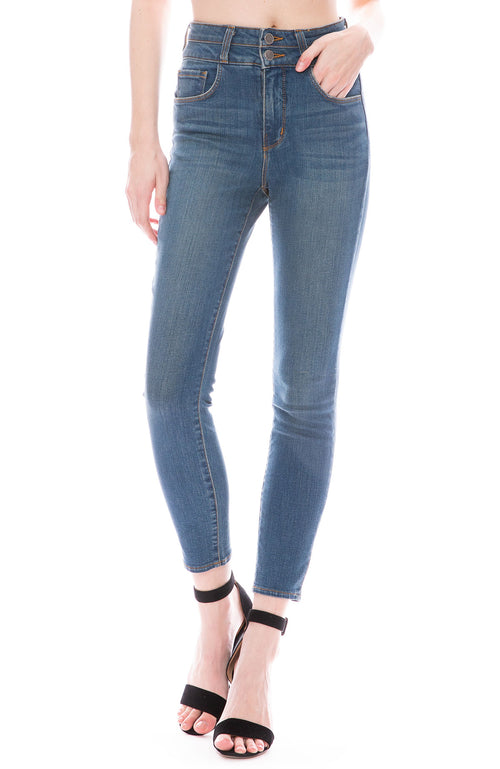 Peyton High Rise Skinny in Premier