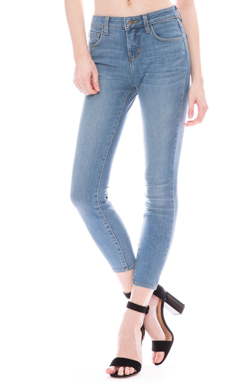 L'Agence Mazzy Low Rise Skinny in Seafoam at Ron Herman