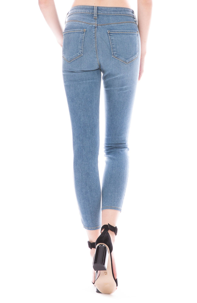 9dcf4e786af2 L Agence Mazzy Low Rise Skinny in Seafoam at Ron Herman