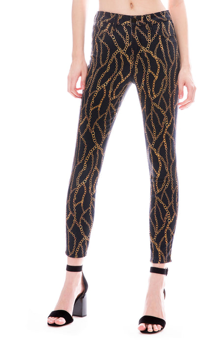 The Margot Chain Print High Rise Ankle Skinny