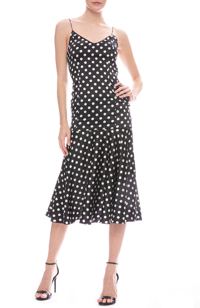 Caroline Constas Kai Polka Dot Slip Dress