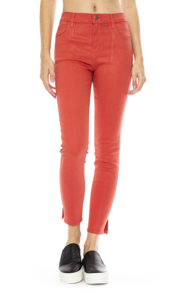 Alana Coated Jean in Rose Tea