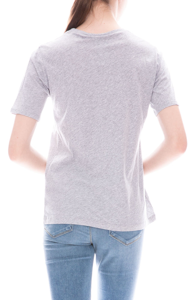 Kule Modern O Boy Short Sleeve T-Shirt in Heather Grey
