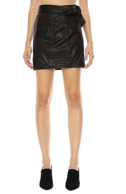 J Brand Christa Leather Mini Skirt at Ron Herman