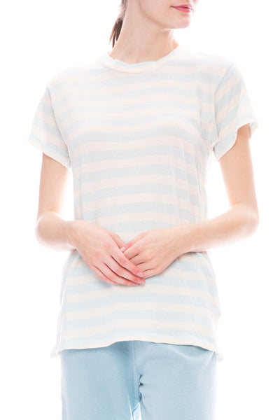The Great Slim Tee in Pale Blue Stripe at Ron Herman